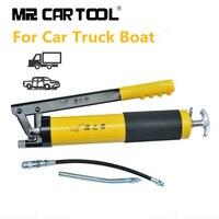 Car Hand operated Grease Gun Oil Pump Pressure 10000 PSI Heavy Duty Lever Repair Tool Lubrication Vehicles Car Auto trucks boats