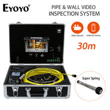 Eyoyo 23mm 30M Pipe Wall Video Inspection Sewer Drain Camera  Pipeline Snake Cam DVR 7″LCD Monitor 6600mAh Battery with USB Port