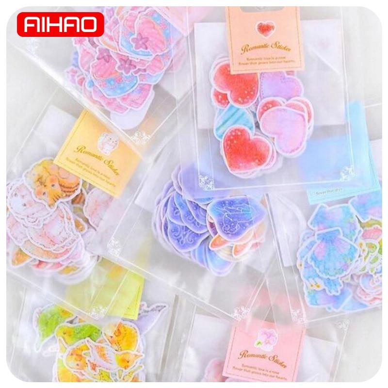 70 Pcs/lot(1 Bag) DIY Cute Kawaii Romantic Heart Star Crafts And Scrapbooking Sticker For Decoration