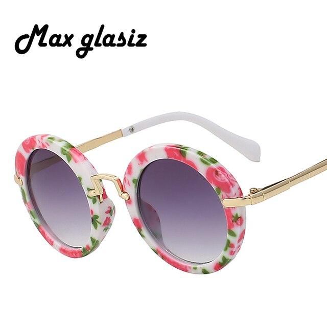 c52ff1930d Fashion Round Kids Sunglasses Children Sun Glasses Anti-uv Baby Vintage  Eyeglasses Girl Cool 6Color infantil