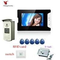 Yobang безопасности 7 Домофон дверная станция с дверной звонок камера дверного звонка домофон система ИК камера дверной звонок комплект для к