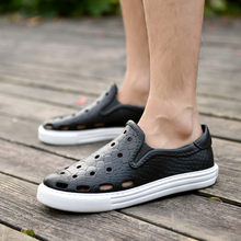 Summer Fashion Sandals Men Outdoor Leather Mesh Beach Breathable Mens Shoes Luxury Brand Wear Casual Man Shoes Big Size 36-45(China)