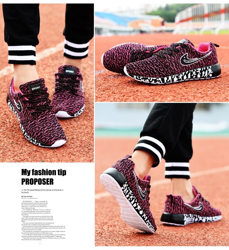Newest Men Women Running Shoes,Light Weight Mesh Sports Shoes,Flat Jogging Sneakers Walking Shoes -Pink (4)