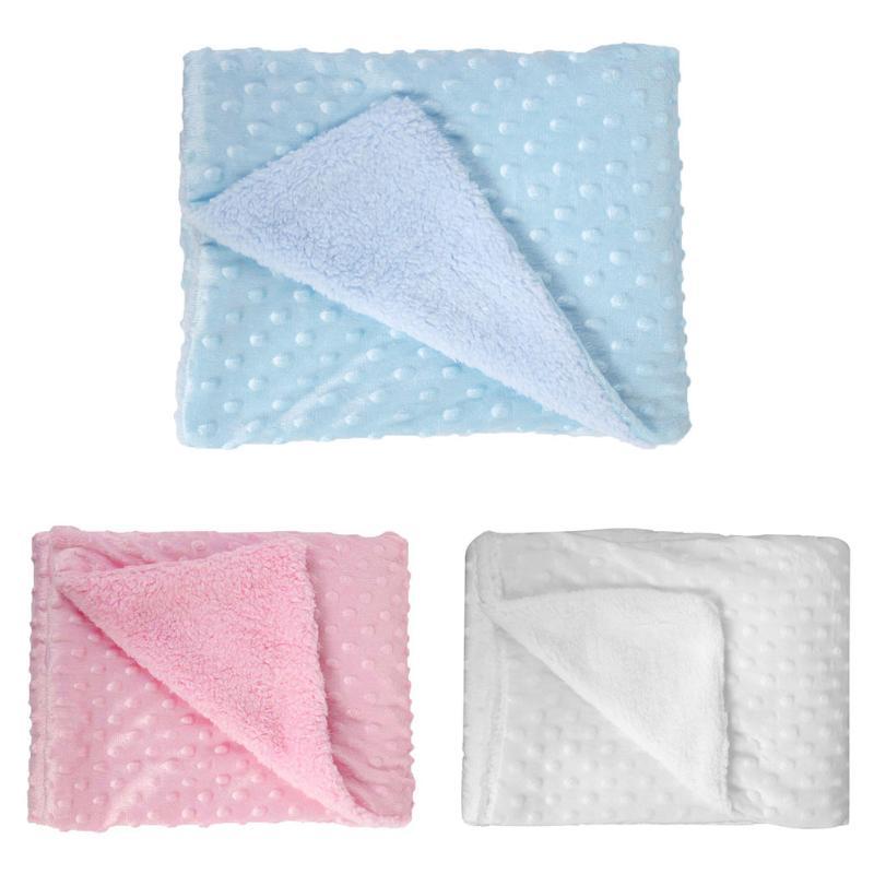 Soft font b Baby b font Blankets Warm Fleece Newborn Stroller Sleep Cover Cartoon Beanie Infant