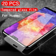20pcs/Lot Tempered Glass For Huawei Nova 5 Pro 4 3 3i 4E 3E Y6 Y5 2017 Y9 Y7 Prime 2019 2018 Explosion Proof Screen Protector(China)
