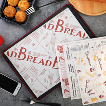 100 pcs 26x36cm Disposable Paper tray mats Oil-proof wax paper for food Wrapping for Fast food restaurant customized supplier 100 pcs 24 5x35cm disposable paper tray mats pad wax paper for food wrapping for restaurant bread customized supplier