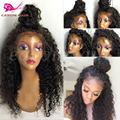 Perucas sintéticas curly lace synthetic frente perucas para a mulher preta com cabelo do bebê para africano americanos perucas resistente ao calor preto