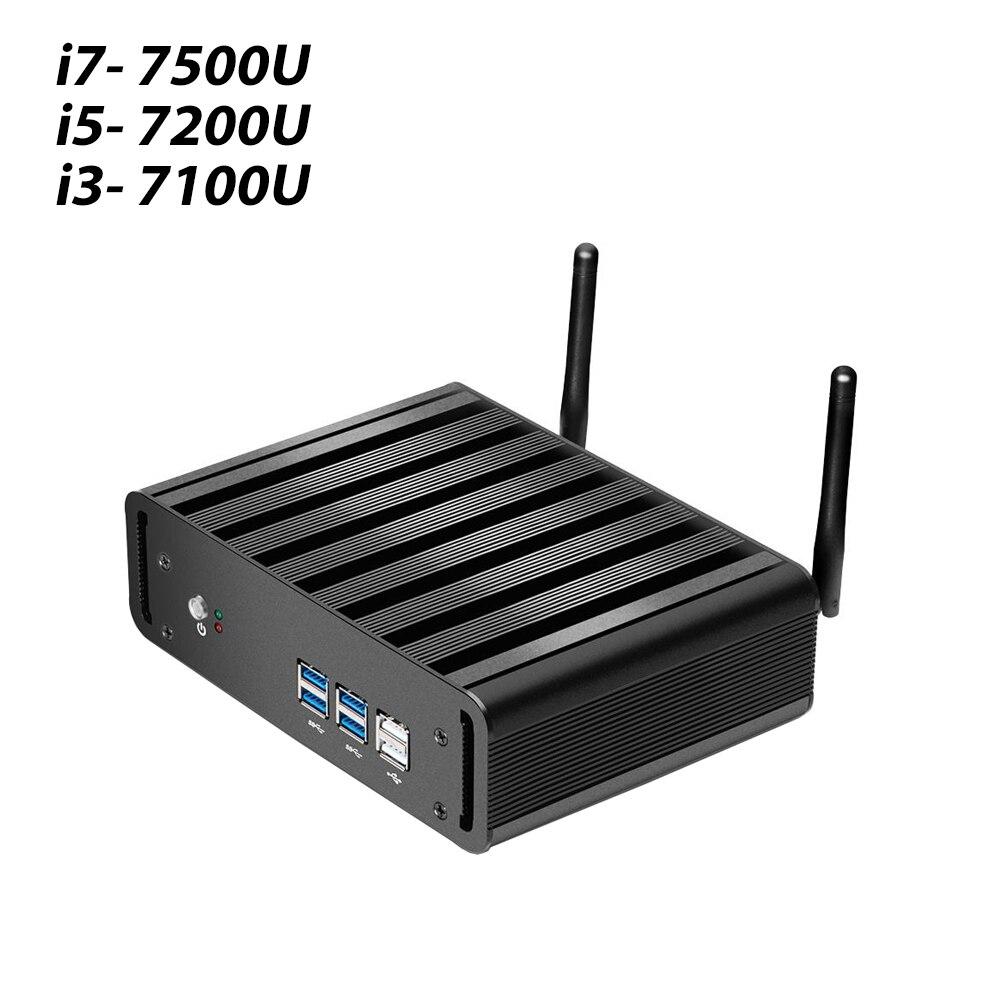 Windows 10 Мини ПК Core i3 7100U i5 7200U i7 7500U 16 Гб RAM 4k UHD Wifi HDMI 6 * USB 7x24Hours Настольный игровой ПК