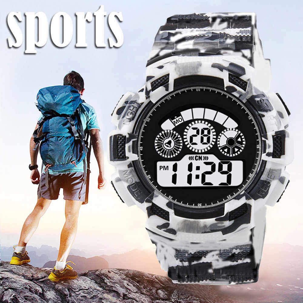 Fashion Mens Digital LED Analog Quartz Alarm Date Sports Wrist Watch 2018 new Smart Watch Youth Smartwatch Men Watches montre