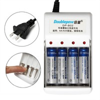 Doublepow 4 Independent Channels Quick Intelligent Charger For AA AAA Ni MH Ni CD Battery With