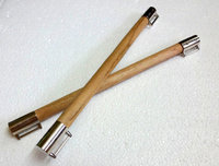 32cm Wooden Bag Handles - Pair, Beige,Long,Ready to attach