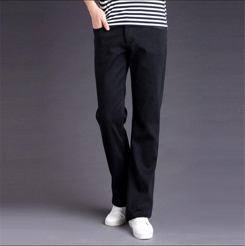 New arrival Plus velvet men's clothing male boot cut mid waist elastic slim all-match bell-bottom denim jeans  velvet boot cut bell bottom pants