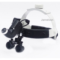2.5X magnification strong lamp high brightness headlamp dental operation magnifier with headlight surgical led light
