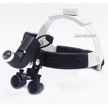 2.5X magnification strong lamp high brightness headlamp dental operation dentistry magnifier with headlight surgical led light