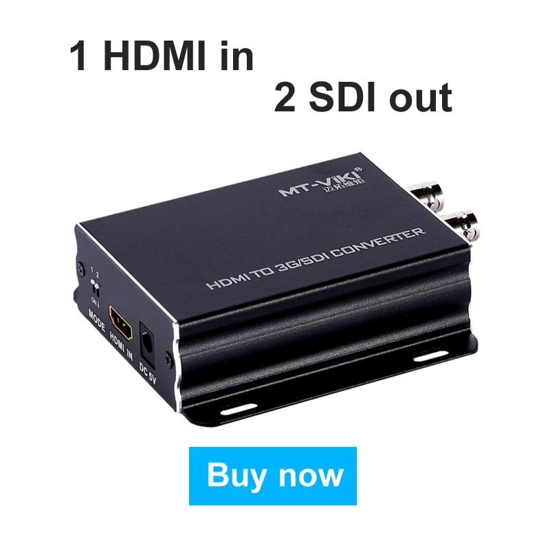 MT-VIKI HDMI to HD/SD/3G SDI Converter Video Adapter Full HD High Quality HDMI In 2*SDI Out HDMI2SDI 1080P SDI-H03 carprie full hd 1080p hdmi to sdi sd sdi hd sdi 3g video converter spliter drop shipping page 1