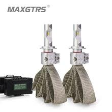 Ampoules de voiture, 2x H1 9005 9006 H16 (ue) 9012 HB3 HB4 phare LED 8000LM pour puces CSP, Source de lumière, pour la conduite
