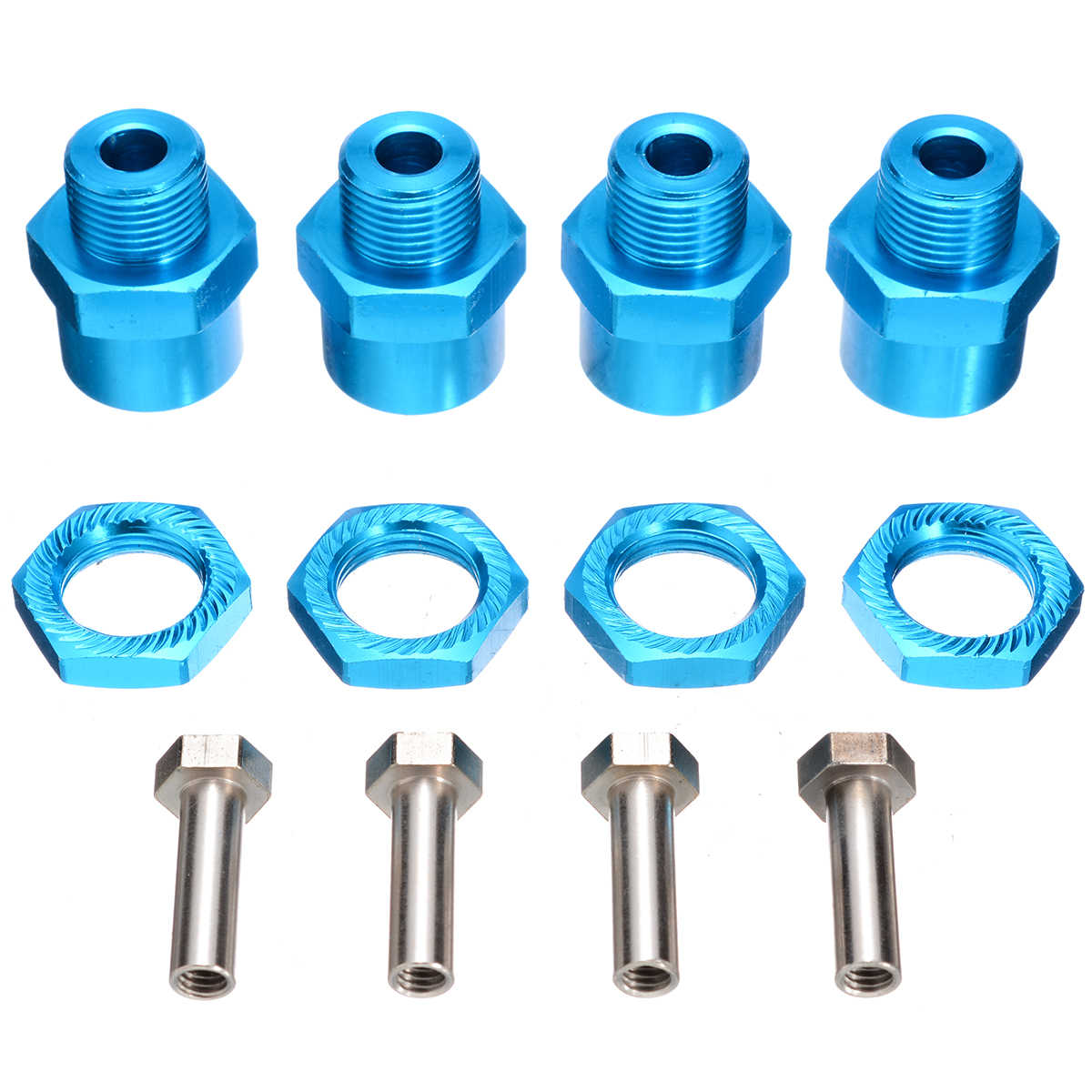 Yongfer RC Extension Wheel 12Pcs 1//10 to 1//8 RC Model Car Part Aluminum Alloy 12mm to 17mm Wheel Hub Adapter Coupling