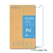 Leagoo t8s에 대 한 2 pcs leagoo t8s 화면 보호기에 대 한 강화 유리 leagoo t8s 유리 hd 보호 0.33mm 유리