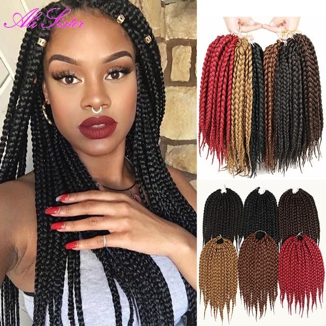 24 18 14 Box Braids Crochet Braids Hair Extentions