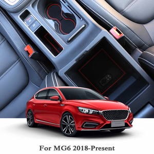 13pcs Sulco Ranhura Pad Porta Interior Do Carro Esteiras Látex Anti-Slip Almofada Auto Acessórios Para MG6 2018 2019 mat Decoração interna