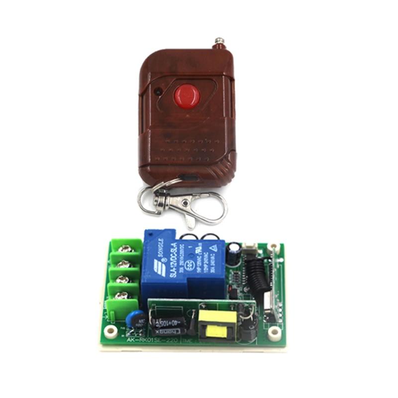 Long Distance 1 Channel AC 110V RF Wireless Remote Control Switch 30A AC 85V 180V 220V 240V 250V Receiver &Transmitter 200M 4143 new design y a4e 1000wx4 4 channel rf remote control wireless switch white 200 240v