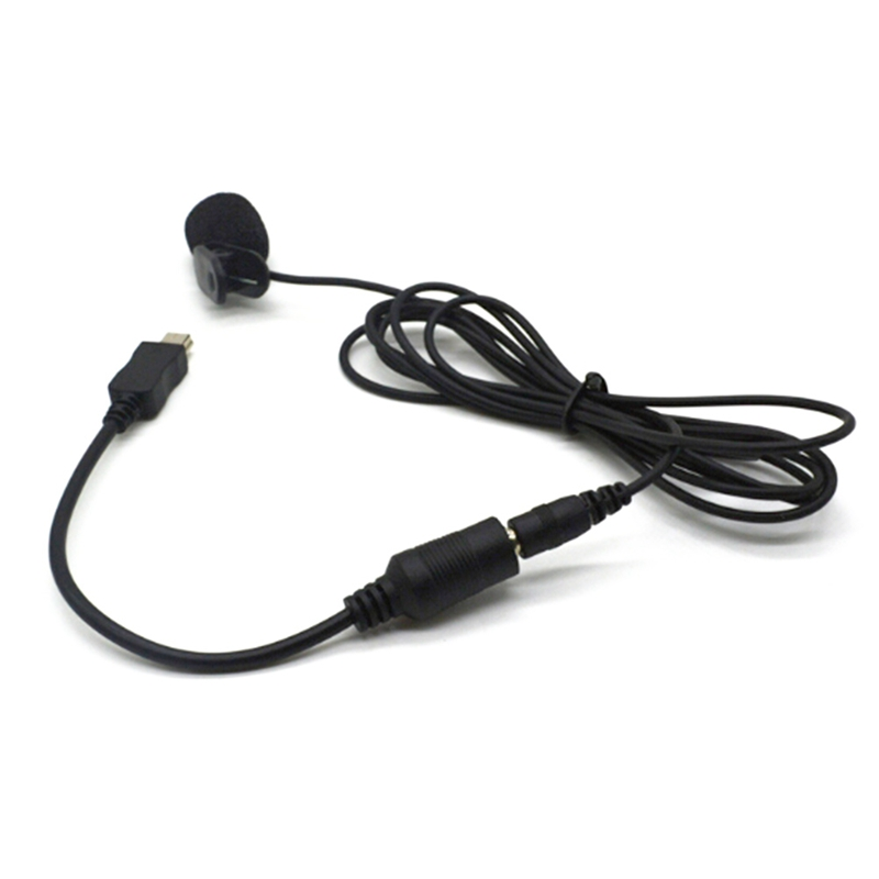 Mini USB Male To 3.5mm Jack Female Audio Cable Cord For Active Clip Mic Microphone Adapter For GoPro 3 Sports Camera