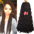 24Inch Freetress Wavy Bobbi Boss Faux Locks Crochet Braids Hair Extensions 100g Synthetic Dreadlocks Bulk Havana Mambo Faux Locs