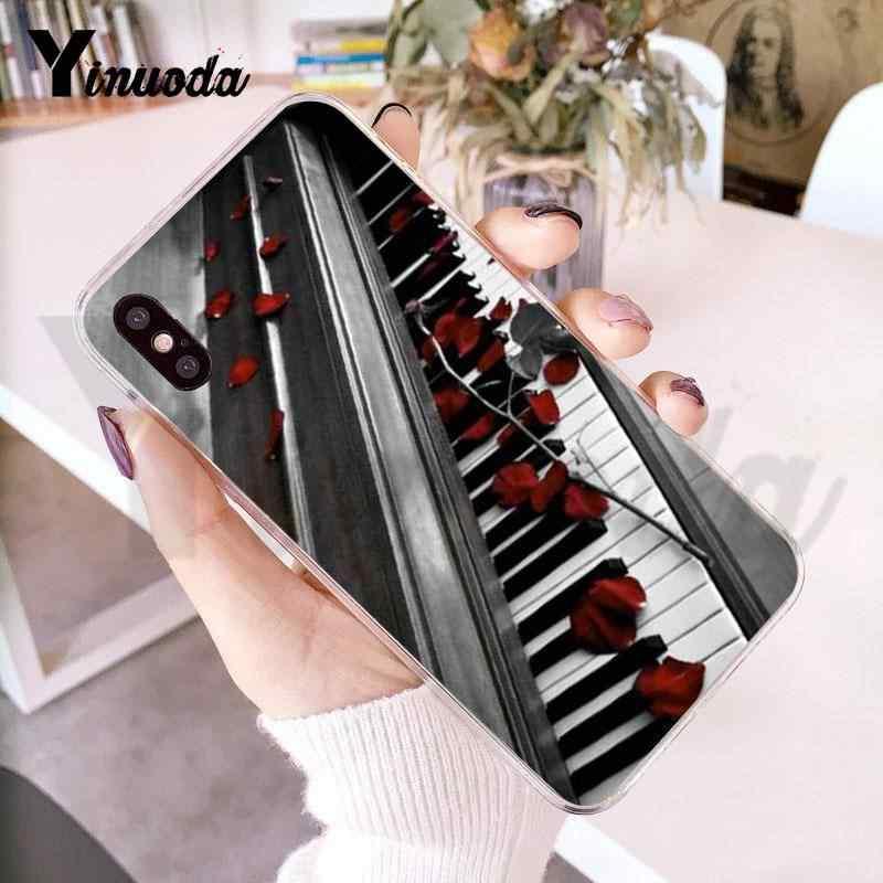 Yinuoda עבור iphone 7 6 X מקרה פסנתר מפתח מוסיקה הערה יפה טלפון אביזרי מקרה עבור iphone 8 7 6 6S בתוספת X XS XR SE 5C XS XR