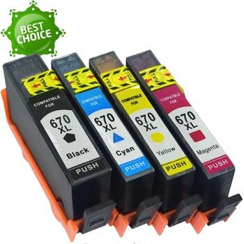 670 670XL BK C M Y Compatible ink cartridge For HP deskjet Advantage 3525 4615 4625 5525 6525 with chip цена 2017