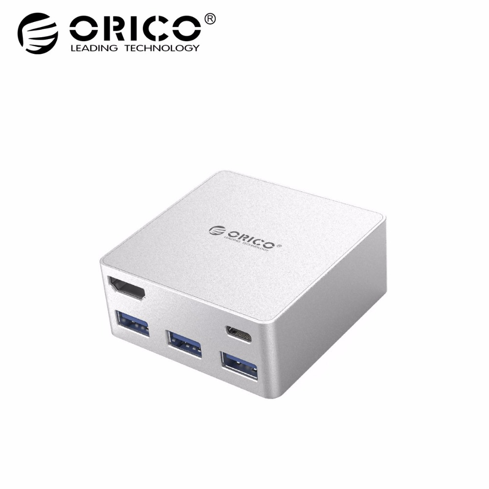 ORICO Aluminum Alloy Laptop Docking Stations TYPE-C to TYPE-C HDMI Converter for newMacbook Laptop Desktop PC with 3 USB3.0 HUB single prism with soft bag for leica type total stations