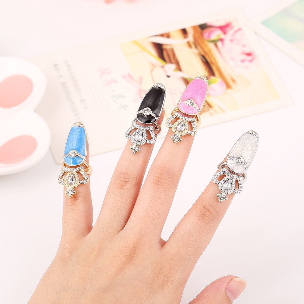 Fashion Elegant Bowknot Crown Pattern Art Finger Nail Rings 2016 New ...