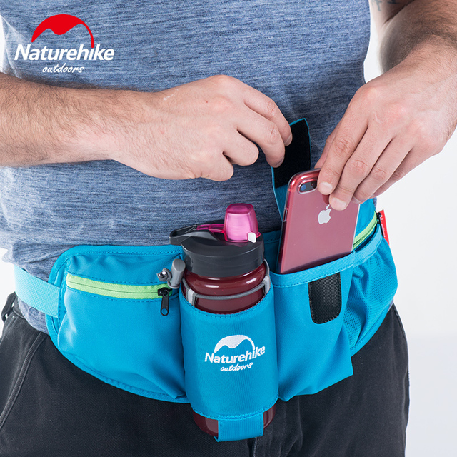 0a9321b0a4a4 US $18.12 20% OFF|Naturehike Waist Bag Outdoor Sports Water Bottle Bag  Nylon Travel Running Cycling Waist Belt Men Women phone Key Money Holder-in  ...