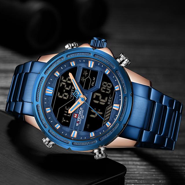 Top Luxury Brand NAVIFORCE Men Watches Military Waterproof LED Digital Sport Men's Clock Male Wrist Watch relogio masculino