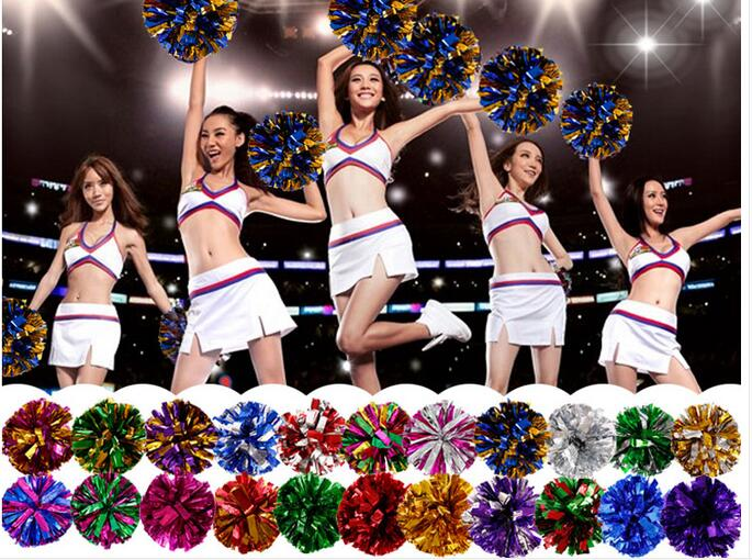 Free Shipping Rose All Star first single paragraph cheerleading pom pon Cheerleading