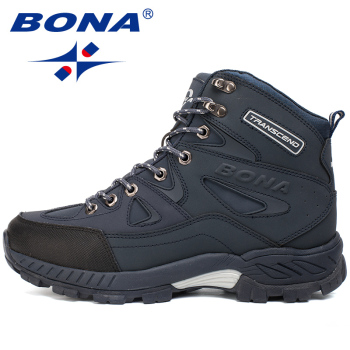 BONA New Arrival Men Hiking Shoes Anti-Slip Outdoor Sport Shoes Walking Trekking Climbing Sneakers Zapatillas Comfortable Boots 1