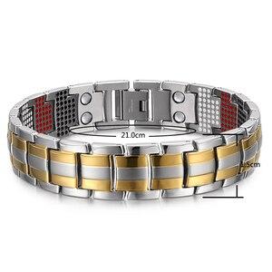 Image 2 - RainSo мужской браслет 2018 Популярные Модные браслеты, Прямая поставка и браслеты Шарм германий магнитный H мощность Титан