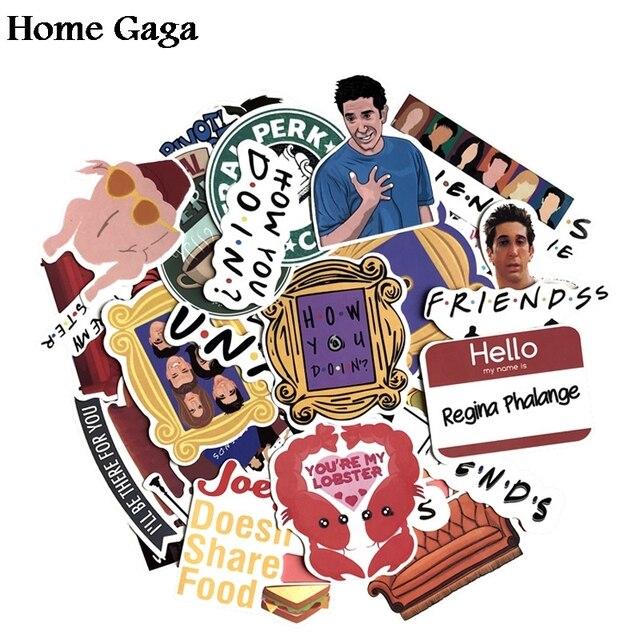Homegaga 34 Uds. Amigos tv show fans regalo decoración pegatina para DIY scrapbooking álbum equipaje Laptop teléfono calcomanía D1666