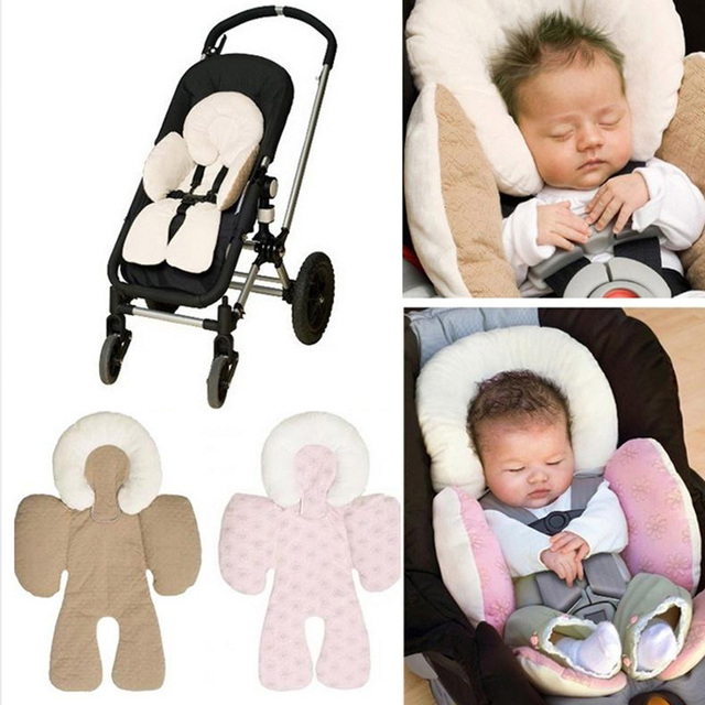 Us 6 47 21 Off Cotton Baby Stroller Cushion Seat Pad Head Body Support Mat Baby Car Seat Protector Pillow Comfortable Strollers Accessories In