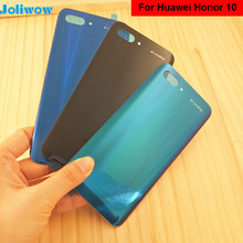 For Huawei Honor 10 Back Glass Battery Cover Rear Door For Honor 10 Battery Cover Housing Panel Honor10 Back Case Replacement new back glass for huawei honor 9x battery cover panel rear door housing case replacement for huawei honor 9x pro battery cover