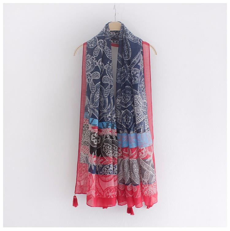 Four Tassels Bamboo Scarf | Shawls and Wraps | Up to 60% Off Now