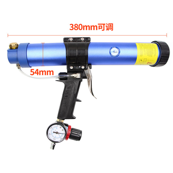 600ml Air Gun Valve Silicone Sausages Caulk Nozzle Glass Rubber Grout Construction Tool Sausage type Pneumatic Sealant Gun
