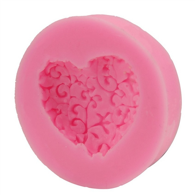 Heart Lace Silicone Handmade Soap Mold
