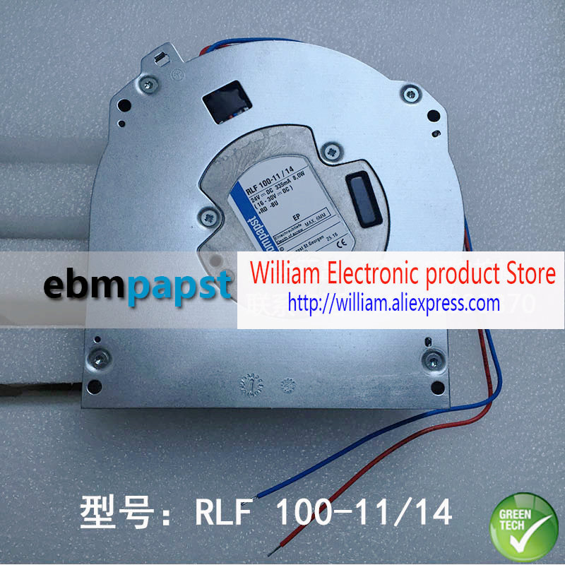 New Original EBM PAPST RLF 100-11/14 DC24V 335mA 8.0W Device cooling fan new original ebm papst 9906l 9906 l ac 115v 120ma 100ma 9w 8w 120x120x25mm axial cooling fan