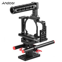 Andoer Protective Video Camera Cage Kit to Mount Microphone Monitor Tripod Lighting Accessories for Sony A6000 A6300 NEX7 ILDC