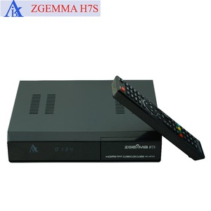 5 pcs/lot zgemma h7s 4k ultra receiver twin dvb s2x/s2 + dvb t2 & dvb c support multi-stream and ci plus