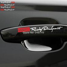 Aliauto 4 x najnowszy WRC klamka do drzwi samochodowych naklejki/naklejki odblaskowe samochód rajdowy naklejki dla toyota volkswagen skoda kia lada opel