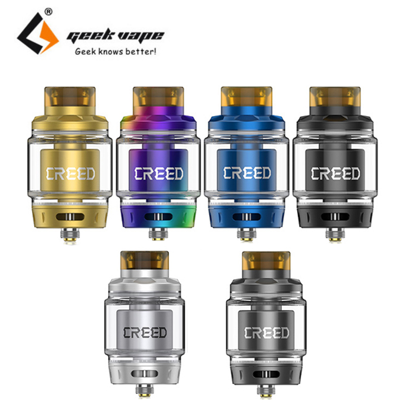 2pcs/lot Geekvape Creed 6.5ML RTA Tank Single/Dual Coil Bubble Glass Tube Atomizer Fit SMOK Alien Mod Vape Vaporizer Vs Zeus RTA 1 2pcs about 4ml 5 5ml glass tube replacement for geekvape zeus 25mm single coil rta tank or geekvape zeus dual rta 26mm tank