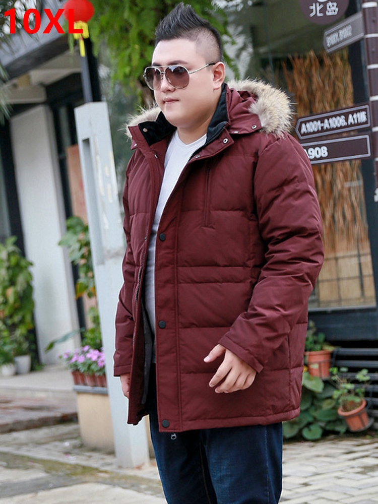 Active Extra Large Down Jacket Male Plus Size 10xl 9xl 8xl Men's Warm Jacket Large Fur Collar Detachable Cap Male Ideal Gift For All Occasions