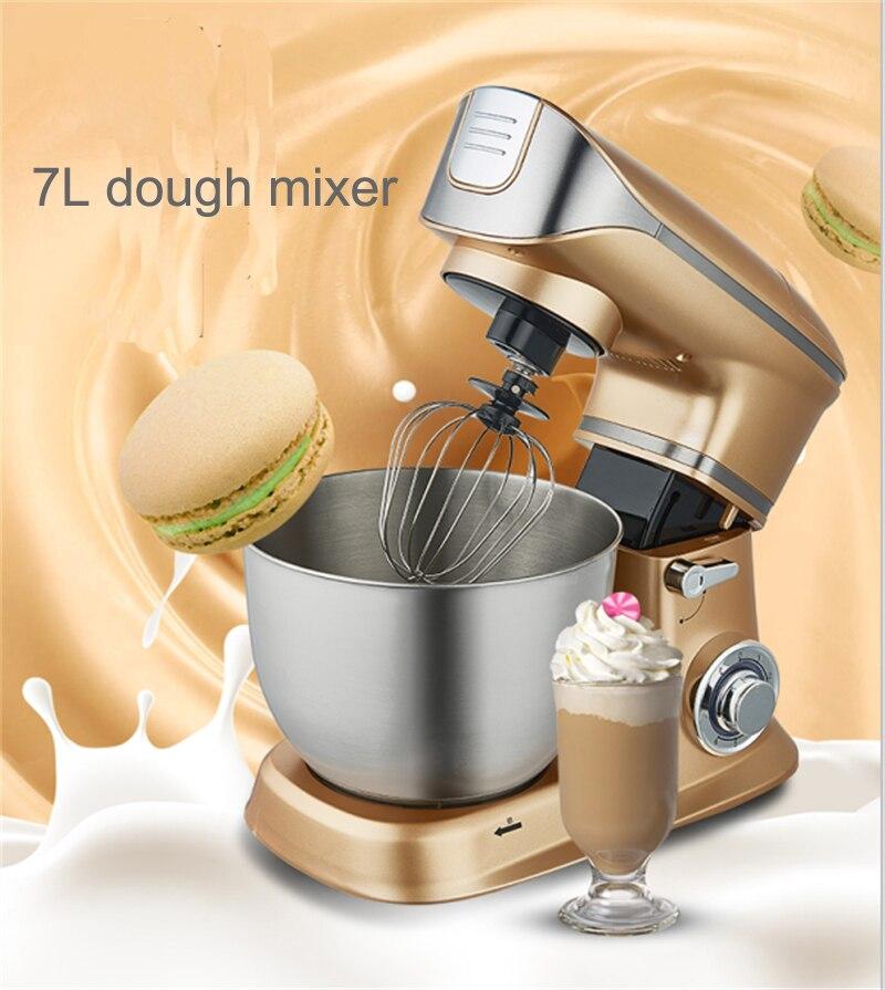 Commercial cuisine multifonctionnel Pâte Mélangeur Automatique Ménage Électrique Mixeur 7L Oeuf Crème Salade gâteau de Batteur mélangeur