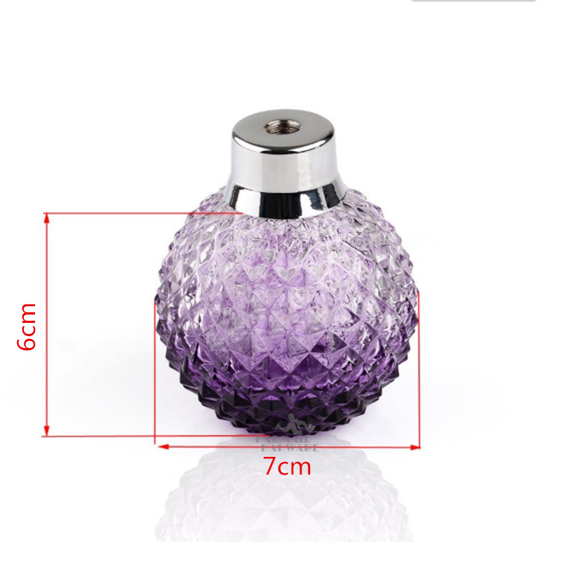 100ml Purple Crystal Art Vintage Style Empty Refillable Perfume Atomizer Long Tassel Spray Bitter Bottle With Air Bag in Other Bar Tools from Home Garden